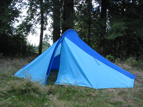 This nice blast from the past single hoop floorless tent is 50  tall and ... & McHale Alpine Style Packs